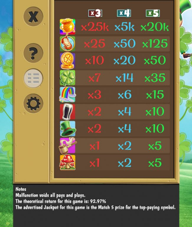 Royal Panda featuring the Video Slots Pots o' Luck with a maximum payout of $20,000