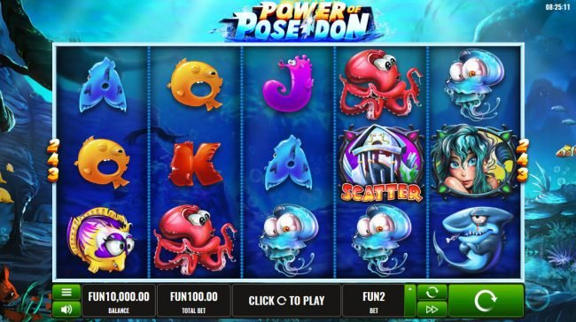 Play slots at betmaster: betmaster featuring the Video Slots Power of Poseidon with a maximum payout of $243,000