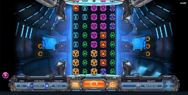 Euro Slots featuring the Video Slots Power Plant with a maximum payout of $164,000