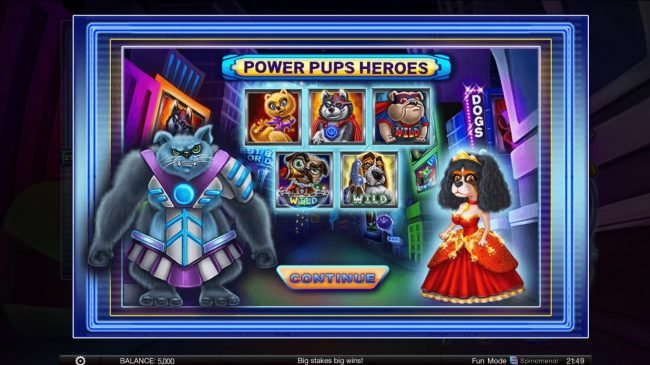 Play slots at This Is Vegas: This Is Vegas featuring the Video Slots Power Pups Heroes with a maximum payout of $4,000