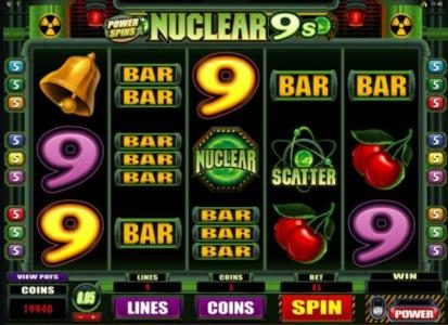 Golden Tiger featuring the Video Slots Power Spins - Nuclear 9's with a maximum payout of $50,000