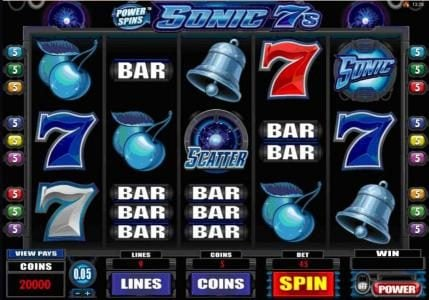 Play slots at Challenge: Challenge featuring the Video Slots Power Spins - Sonic 7s with a maximum payout of $50,000