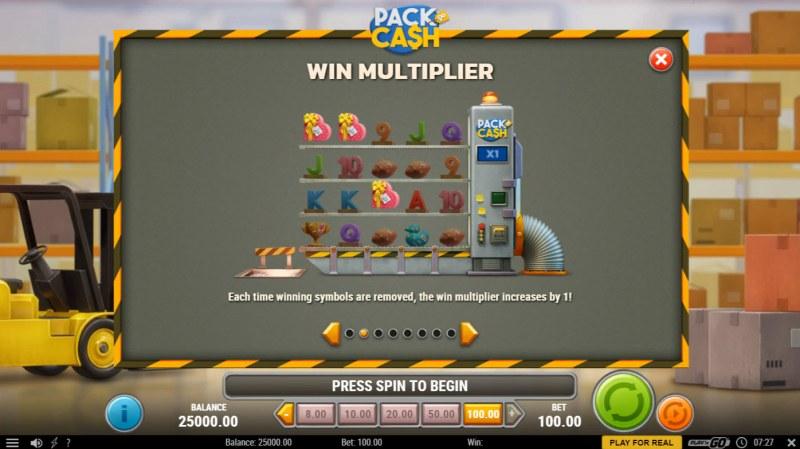 Pack & Cash :: Win Multiplier