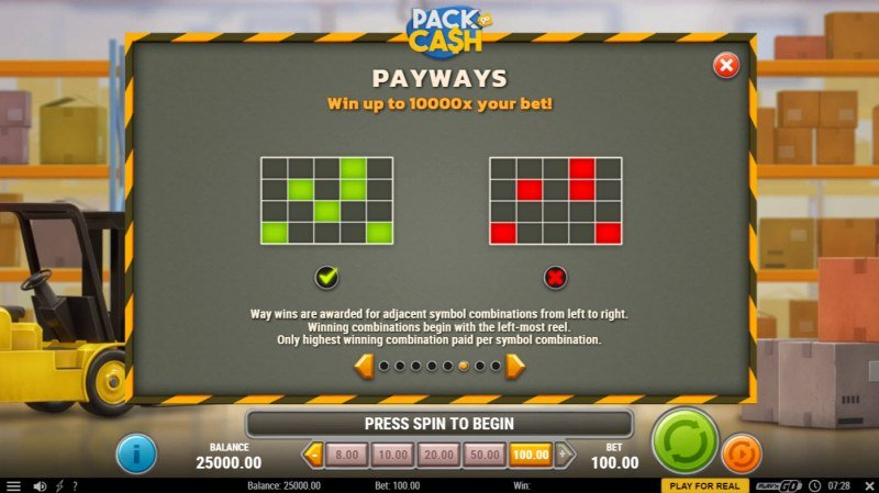 Pack & Cash :: 1024 Ways to Win