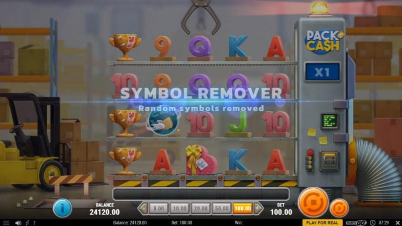 Pack & Cash :: Symbol Remover feature triggers randomly