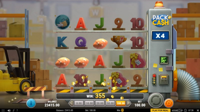 Pack & Cash :: Multiple winning combinations