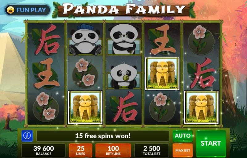 Panda Family :: Free Spins retriggered