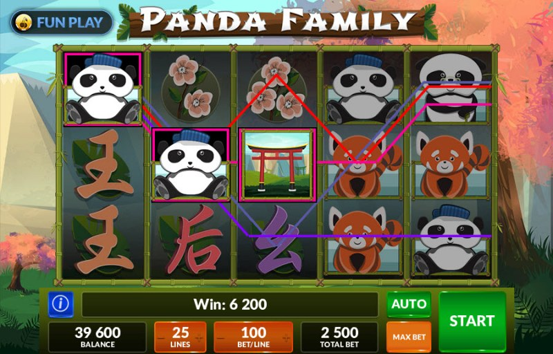 Panda Family :: Free Spins Game Board