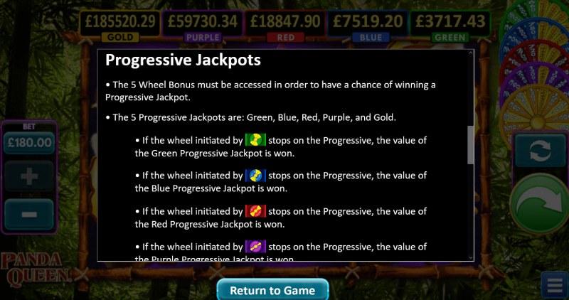 Panda Queen :: Jackpot Rules