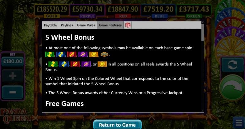 Panda Queen :: 5 Wheel Bonus