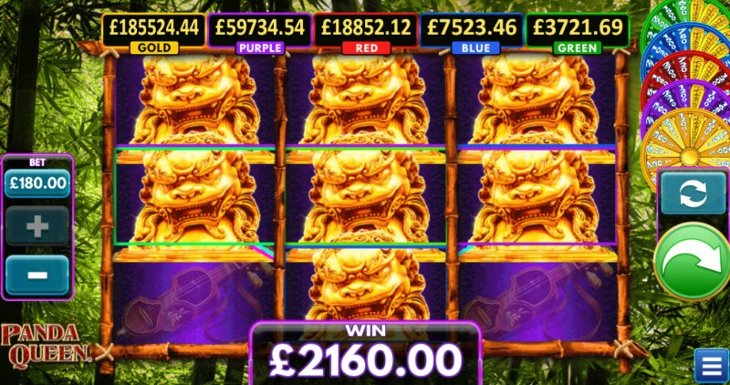 Panda Queen :: Multiple winning combinations lead to a big win