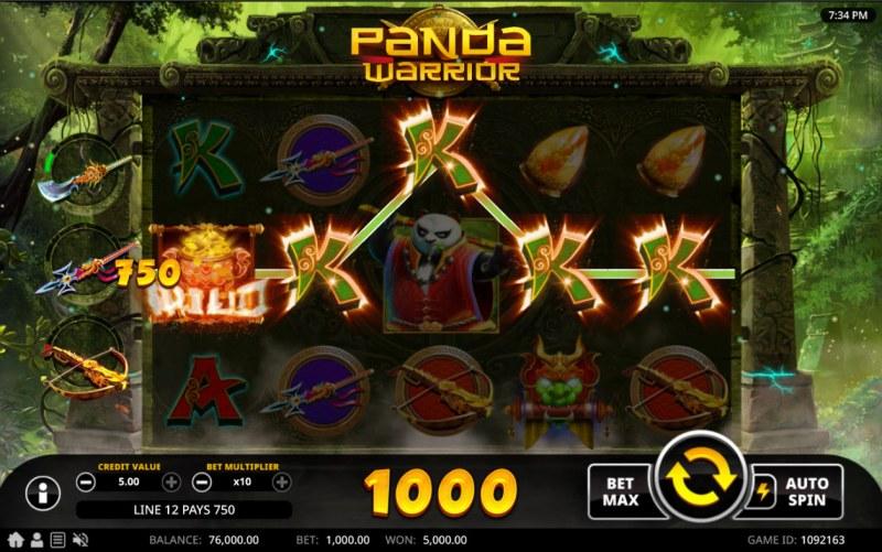 Panda Warrior :: A five of a kind win