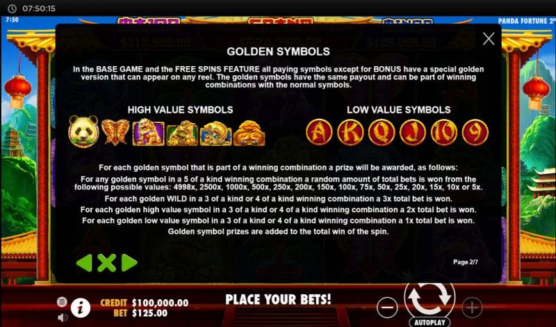 Panda's Fortune 2 :: Golden Symbols