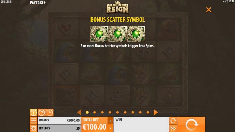 Panther's Reign :: Bonus Scatter Symbol