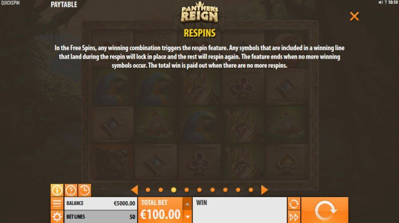 Panther's Reign :: Respins