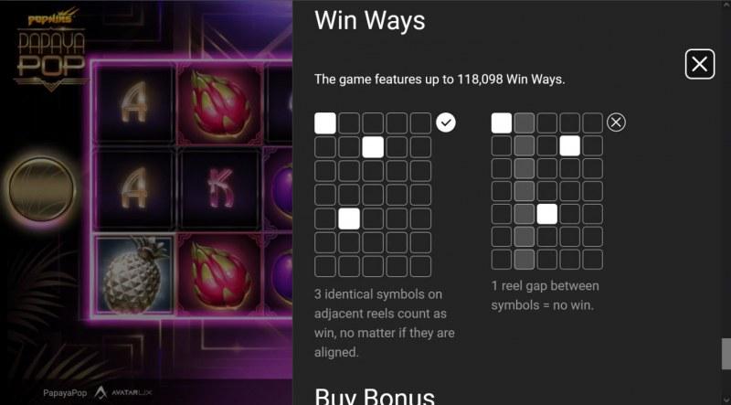PapayaPop :: Win Ways