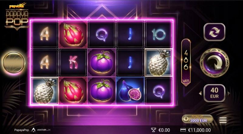 PapayaPop :: Base Game Screen