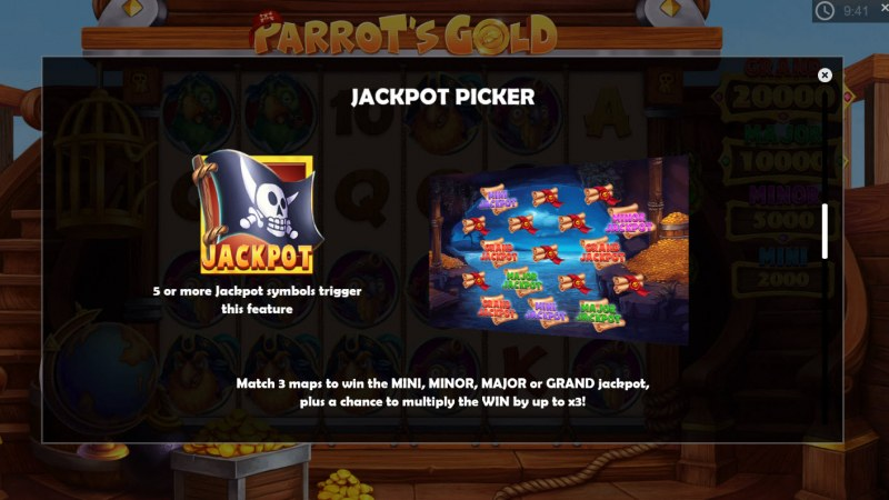 Parrot's Gold :: Jackpot Picker