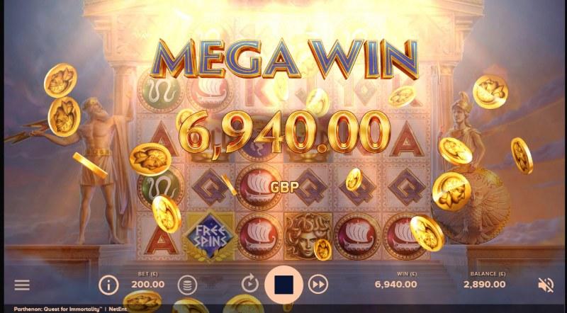 Parthenon Quest for Immortality :: Mega Win