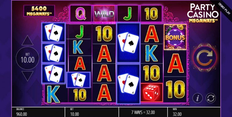 Party Casino Megaways :: A four of a kind Win