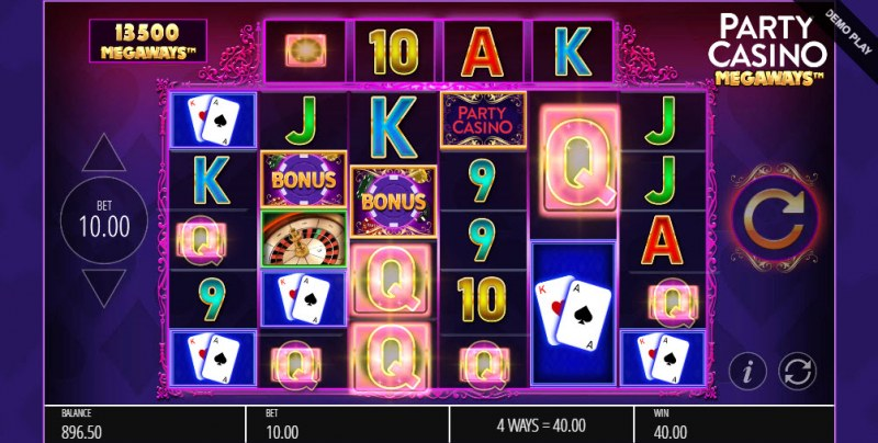 Party Casino Megaways :: A five of a kind win