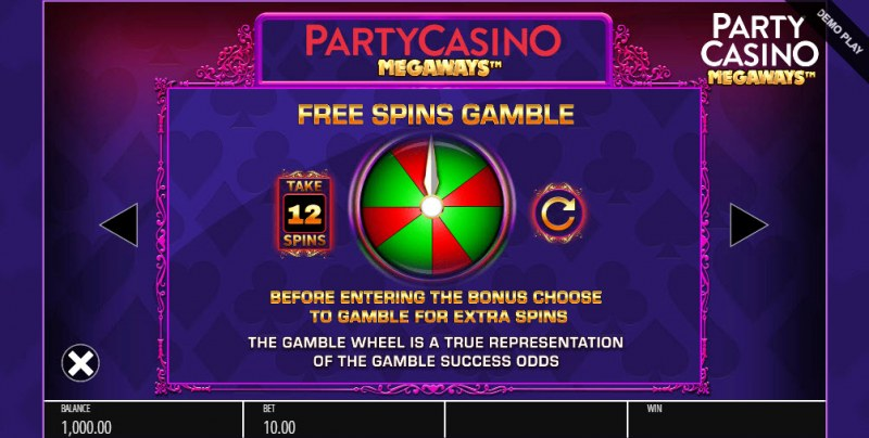 Party Casino Megaways :: Gamble Feature Rules