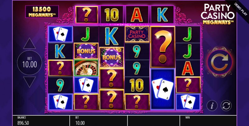 Party Casino Megaways :: Mystery symbol feature activated