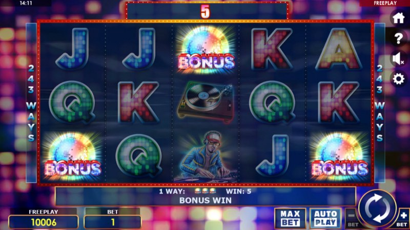 Party Night :: Scatter symbols triggers the free spins feature