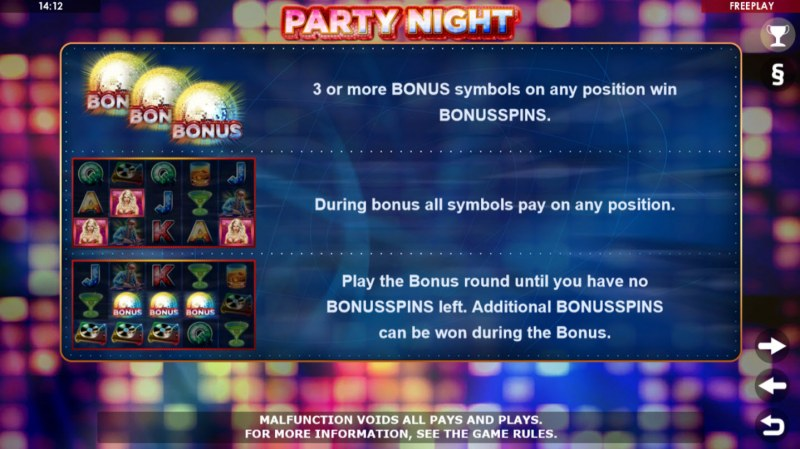 Party Night :: Free Spins Rules