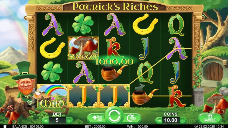 Patrick's Riches :: Multiple winning paylines