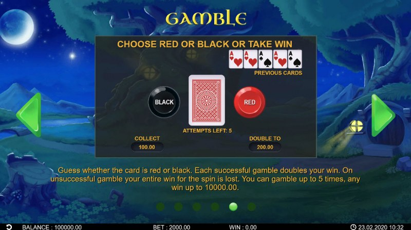 Patrick's Riches :: Gamble Feature Rules