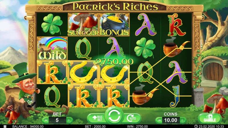 Patrick's Riches :: Three of a kind