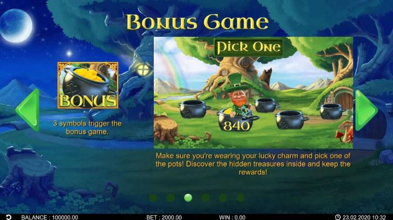 Patrick's Riches :: Bonus Game Rules