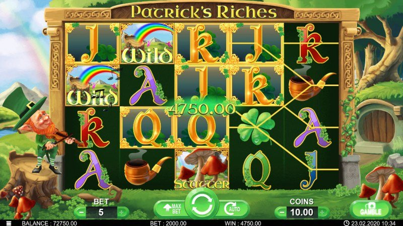 Patrick's Riches :: Multiple winning combinations
