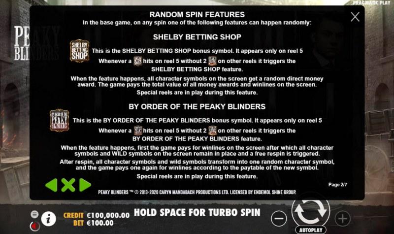 Peaky Blinders :: Feature Rules