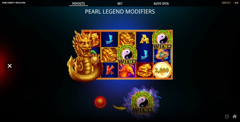 Pearl Legend Hold & Win :: Feature Rules
