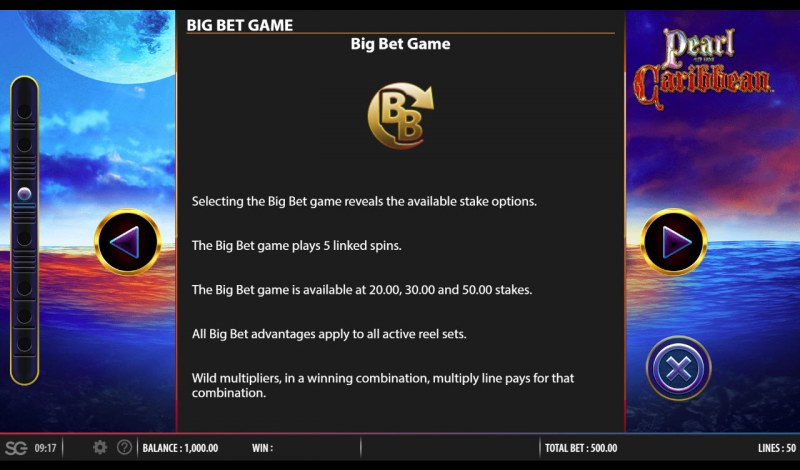 Pearl of the Caribbean :: Big Bet Rules