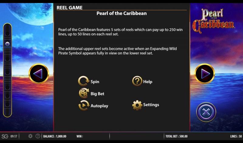 Pearl of the Caribbean :: Reel Game