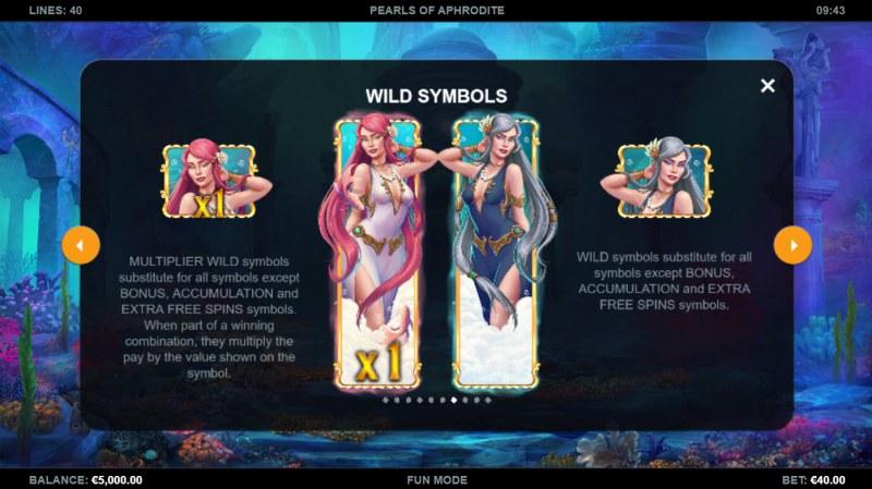 Pearls of Aphrodite :: Wild Symbol Rules