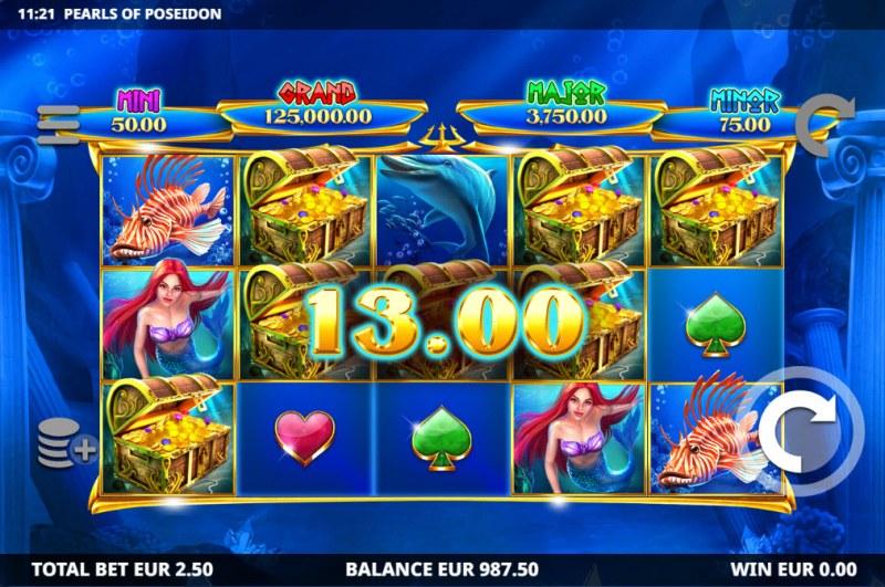 Pearls of Poseidon :: Multiple winning paylines
