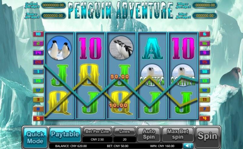Penguin Adventure :: Scatter Win
