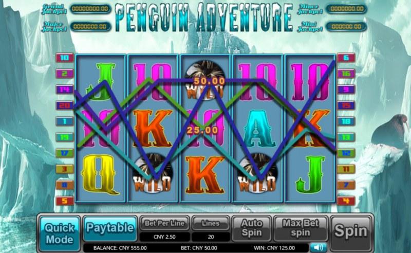 Penguin Adventure :: Multiple winning paylines