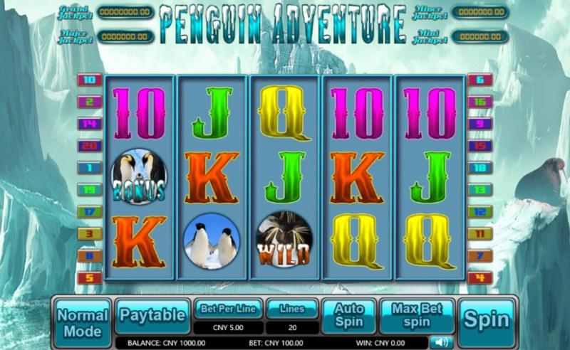 Penguin Adventure :: Main Game Board
