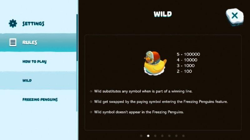 Penguins Paradise :: Wild Symbols Rules
