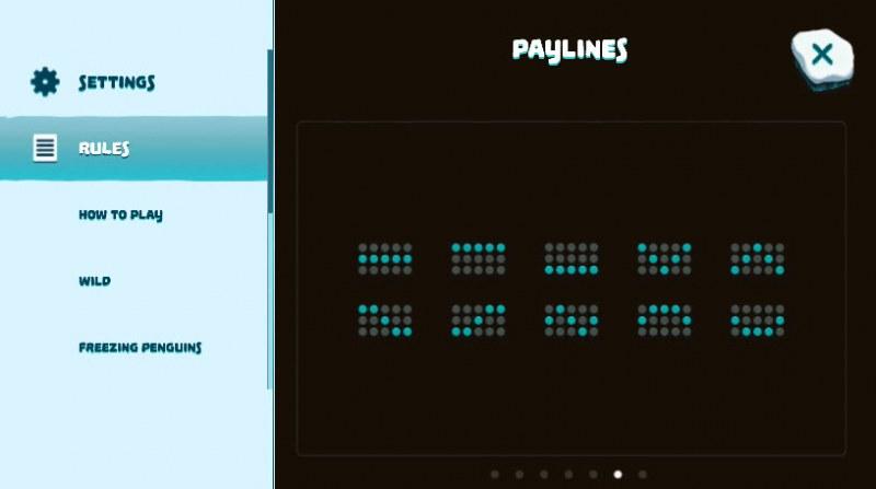 Penguins Paradise :: Paylines 1-10