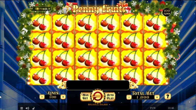 Penny Fruits Christmas Edition :: Multiple winning combinations leads to a big win