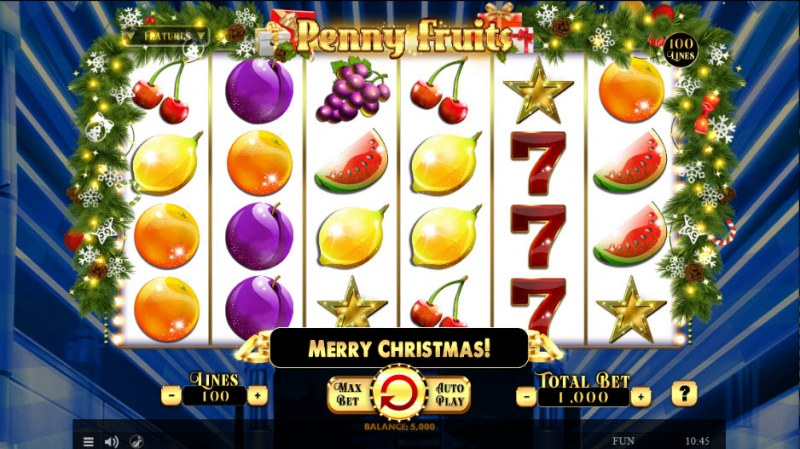 Penny Fruits Christmas Edition :: Main Game Board