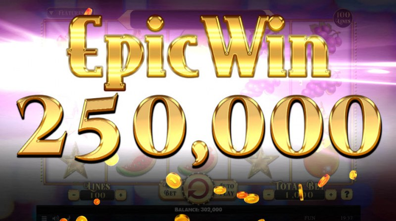 Penny Fruits Extreme :: Fully stacked wild symbols triggers an epic win