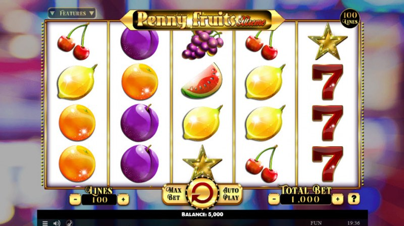 Penny Fruits Extreme :: Main Game Board