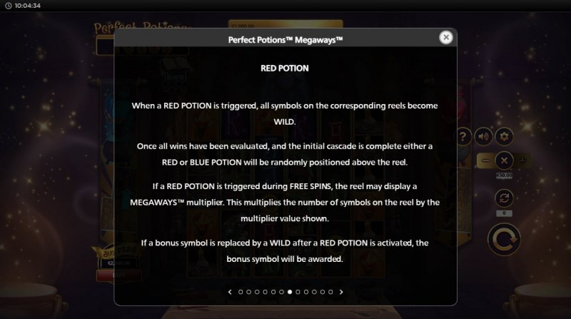 Perfect Potions Megaways :: Red Potion